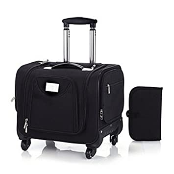 c389dd6bb4df Lori Greiner Weekender Wheeled Bag with Snap In Toiletry Case - Black   Amazon.co.uk  Luggage