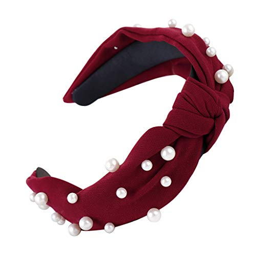 Kulywon Fashion Sweet Bow Knot Beading Hairband Women Hair Head Hoop Girls Headband 2019 ()