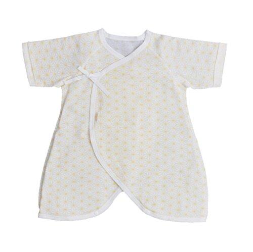 38815939e497d CELEC(セレク) 新生児 肌着 日本製 ベビー コンビ肌着 50cm フライス 麻の葉柄 出産