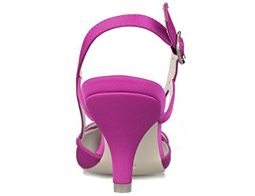 Zapatos Greatonu Rosa Mujer Adorna de Perla con Aguja Tacón de TrdUqr