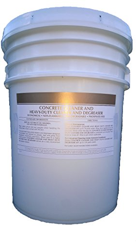 Patriot Chemical Sales 5 Gallon Pail Concrete Cleaner Degreaser Heavy-duty Industrial Strength Concentrate by Patriot Chemical Sales