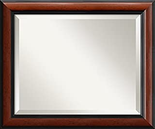 "Framed Mirrors for Wall | Regency Mahogany Mirror for Wall | Solid Wood Wall Mirrors | Small Wall Mirror 19.88 x 23.88"" (B00D77EO6E) 