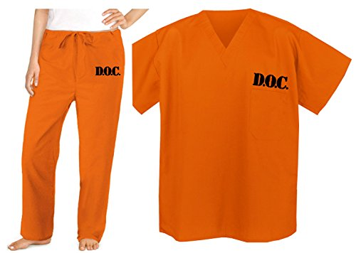 Broad Bay Prison Costume Orange DOC Convict Jail
