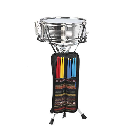 MG.QING Professional Snare Drum, Student Band, Military Drum Head, with Drumsticks, Tuning Keys, Strap,Blue by MG.QING (Image #3)