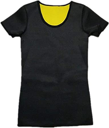 Cintura recortadores Nueva natural for bajar de peso neopreno camisa de entrenamiento Body Shapers camiseta de los hombres sudaron más de quema de grasa de la cintura programa Entrenador Faja TONGDAUR: Amazon.es: