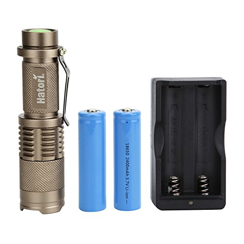 Hatori Zoomable Flashlight Batteries included
