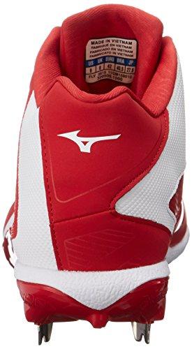 Mizuno Mens Chaussures Hold-up Iq Mi Baseball Rouge / Blanc