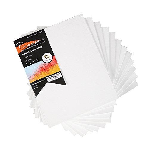 CONDA 8 x 10 inch Canvas Panels Pack of 12 Artist Quality Acid Free Canvas (Acrylic Paint Canvas)