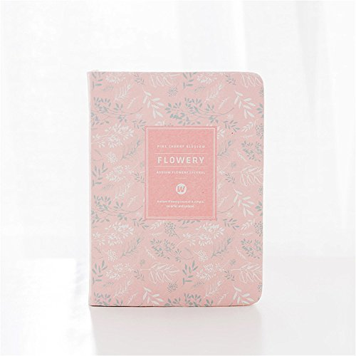 Hardcover Weekly Plan Notebook Office School Schedule Stationery Flowery Planner Organizer Student Cute Portable Diary - Frame Bag B4