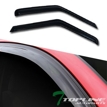 Topline Autopart Sun/Rain Guard Shade Deflector Window Visor 2P For 94-04 Chevy S10 Blazer/Gmc Sonoma