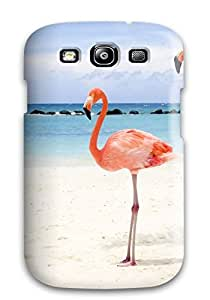 Cute Appearance Cover/tpu WeIpecn13806uPjsu Two Flamingos Case For Galaxy S3
