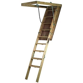 Louisville Ladder S305P Big Boy Wood Attic Ladder 30 Inch By 60 Inch 350