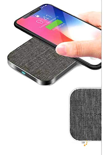 Wireless Charging Pad Qi Charger Base 10W Fast Charge QC 2.0 3.0 for Samsung Galaxy S9 S8 S7 Edge Note 8 & 7.5W Compatible iPhone X 8 Plus & 5W for All Qi-enabled Phones LG G5 Moto w/ USB Type C Cable
