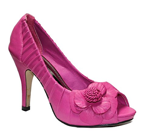 Flourish Syddy-6 Womens High Heels Slip On Dress Pump Fuchsia jdCeQRy