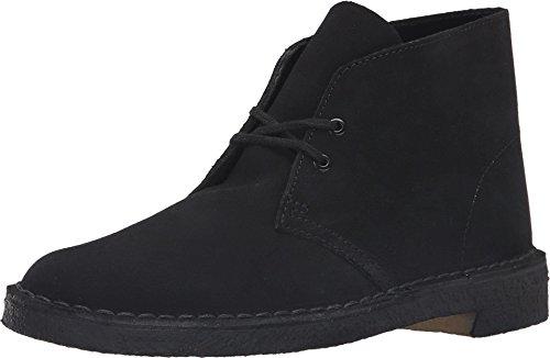 Clarks Originals Men's Desert Boot, Black Suede, 9 M