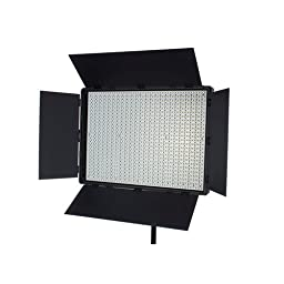 StudioPRO Single S-900DN Dimmable 900 LED Light Panel Kit, Daylight Flood Photo Studio Video Film Photography Continuous Lighting Kit