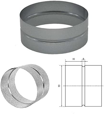 Aktivkohlefilter etc. Verbindungsst/ück Muffe 102 mm f/ür Rohrl/üfter