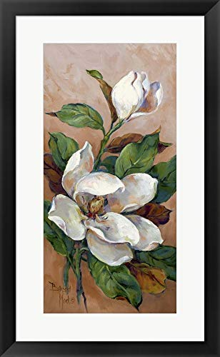 Magnolia Accents II by Barbara Mock Framed Art Print Wall Picture, Black Frame, 18 x 29 inches