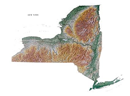 graphic relating to Printable Maps of New York State known as Fresh York Region Topographic Wall Map via Raven Maps, Print upon Paper (Non-Laminated)