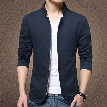 Gop Store Style Mens Jacket Coat Cotton Solid Casual Jacket Men Slim