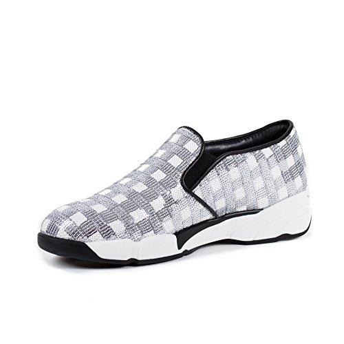 Ricamato 37 Tessuto Pinko Primavera Sneaker Argento Y23z Donna Sequins1h207h Scarpe Estate 2016 Bianco Yxq1T1