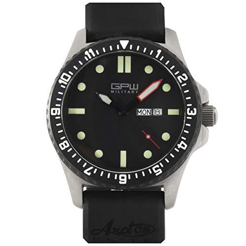 German Military Titanium Watch. GPW Day Date. 200M W R. Sapphire Crystal.