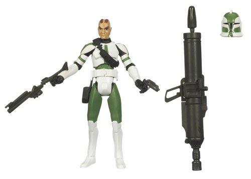 Commander Gree Star - Star Wars 2009 Clone Wars Animated Action Figure Commander Gree