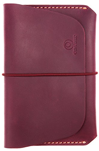 Leather Passport Holder for Men & Women - Genuines Wallet Case for 1 or 2 Passports (Maroon)