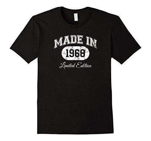 Birthday Limited Edition - Mens Made In 1968 T-Shirt Limited Edition 50th Birthday Gift XL Black
