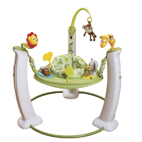 Evenflo Exersaucer Jump and Learn Stationary Jumper, Wild Li