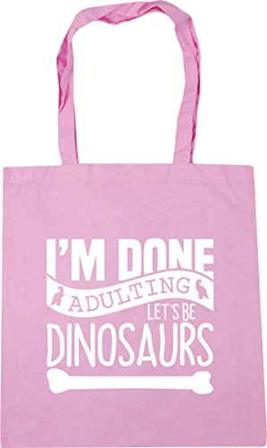 Beach Pink HippoWarehouse Tote 42cm Let's Bag Adulting Gym Be I'm x38cm litres 10 Shopping Classic Dinosaurs Done UHxwU