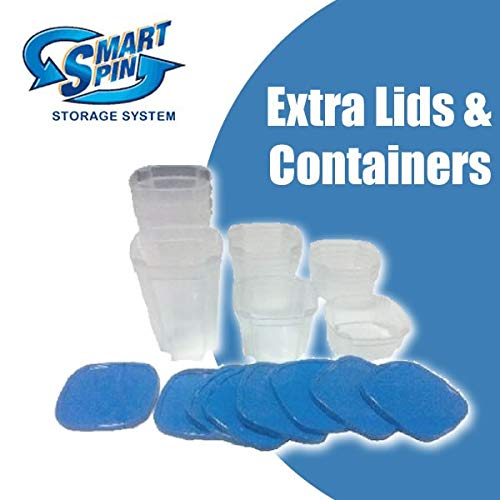 - Extra Containers and Lids for Smart Spin Storage