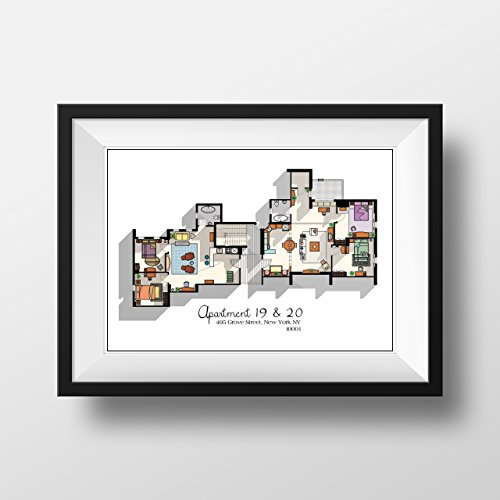 Friends TV Show Apartment Floor Plan- Friends TV Show Layout- The one with the