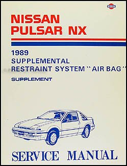 1989 1990 nissan pulsar nx air bag repair shop manual original rh amazon com 1989 Nissan Pulsar NX 1989 Nissan Pulsar with T Top