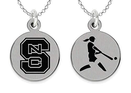 (College Jewelry North Carolina State Wolfpack Softball Charm Necklace)