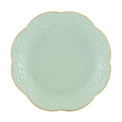 Lenox French Perle Dessert Plates, Ice Blue, Set of 4
