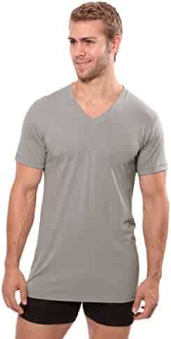 bd072a945 Texere Men's V-Neck Luxury Undershirt - Loungewear Tee in Bamboo Viscose  (Meio)