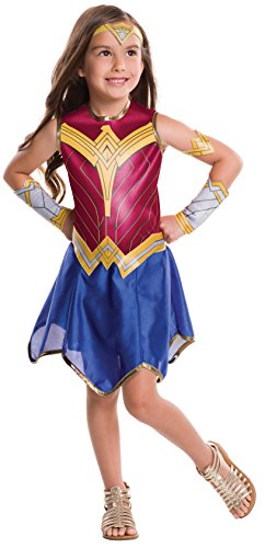 [Rubie's Costume Batman v Superman: Dawn of Justice Wonder Woman Tween Value Costume, Medium] (Halloween Costumes For Girl Kids)