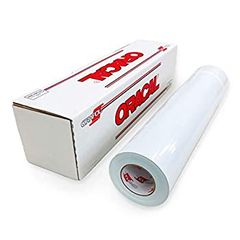 Image of ORACAL Matte White Vinyl 651 - Adhesive Craft Vinyl Roll for Cricut, Silhouette, Cameo, Craft Cutters, Printers, and Decals - Outdoor & Permanent | 24' x 150' Vinyl Rolls Adhesive Vinyl