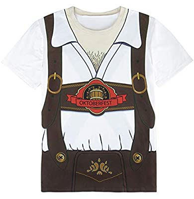 Funny World Men's Bavarian Oktoberfest Costume T-Shirts