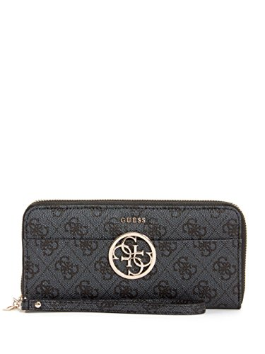 Guess Handbags Wallets - GUESS Kamryn 4G Logo Large Zip Around Wallet, Coal