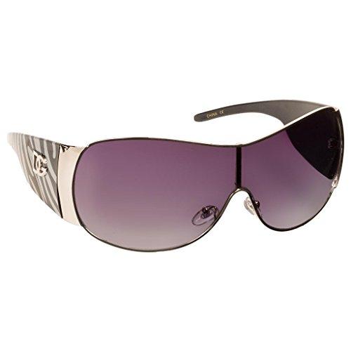 DG Eyewear Oversized Animal Print Fashion Sunglasses