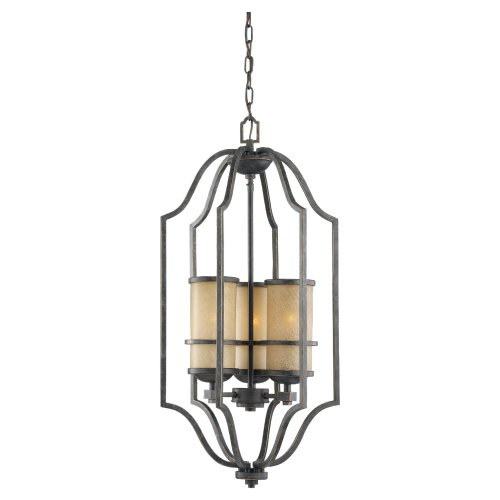 Sea Gull 51521-845 15-3/4-Inch Lighting W Roslyn Flemish Pendant Light with Tinted Shade, Bronze, 1-Pack -
