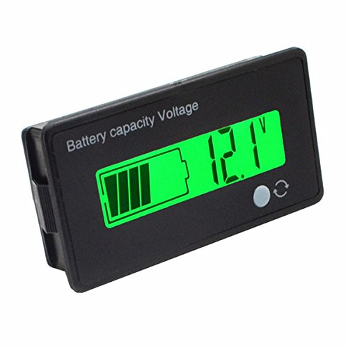 12V//24V//36V//48V 8-70V LCD /ácido de Plomo de Litio Capacidad de la Bater/ía del Volt/ímetro del indicador Digital Ils