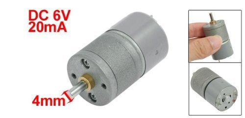 eDealMax DC 6V 20mA 120 rpm 25 mm Diámetro de caja de cambios del motor eléctrico engranado - - Amazon.com