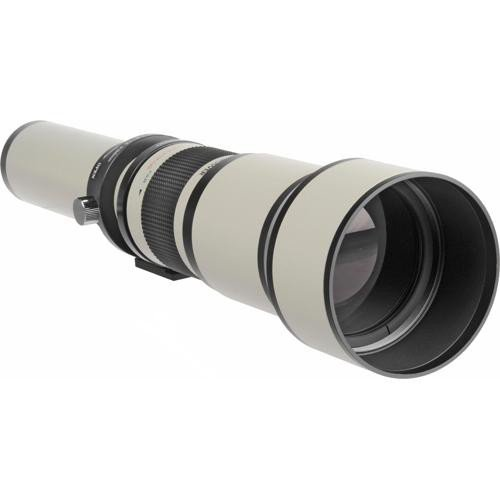 Bower 650-1300mm f/8-16 Manual Focus T-Mount Lens With Built