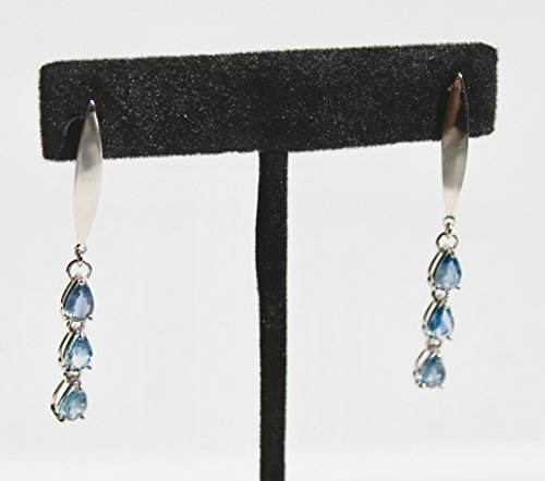 Untreated Sapphire (Natural untreated light blue sapphire earrings in Sterling silver earrings-Free expedited shipping!)