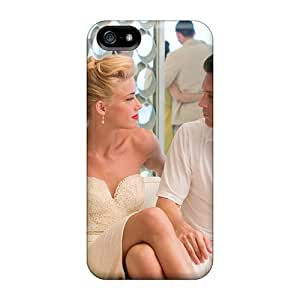 New Style Cases Covers GPp1372jnKM Amber Heard And Johnny Depp In The Rum Diary Compatible With Iphone 5/5s Protection Cases