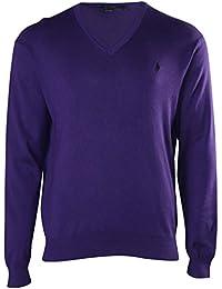 Polo Ralph Lauren Men V-Neck Pima Cotton Pony Logo Sweater
