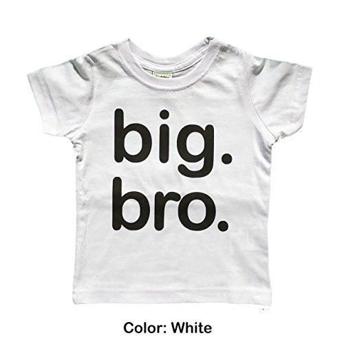 White Bro T-shirt (Boys Big bro Shirt, Boys Big Brother Shirt, Big Brother Announcement Shirt, Big Brother t Shirt, Big Brother Gift, Toddler Gift, only Child expire Shirt (5y, White))